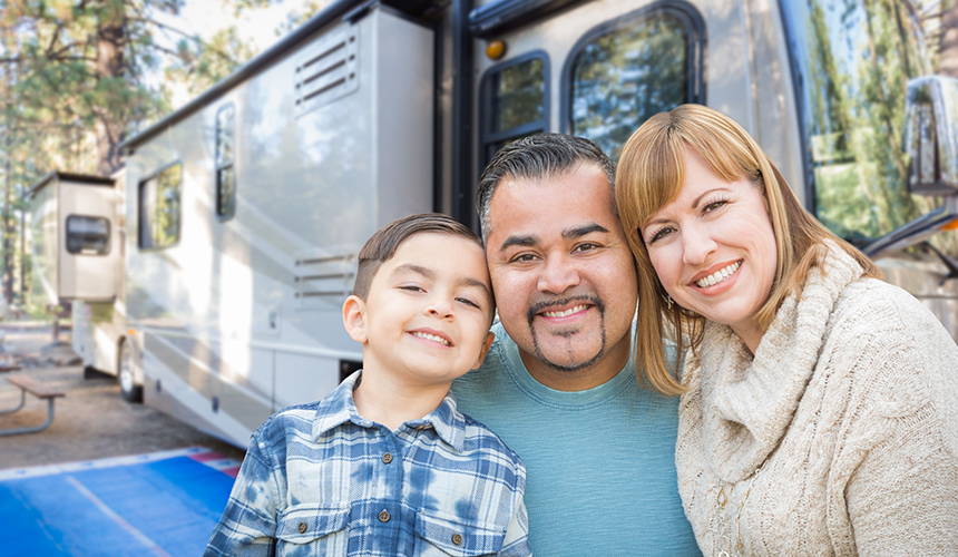 Family with RV Insurance, Dundee, NY