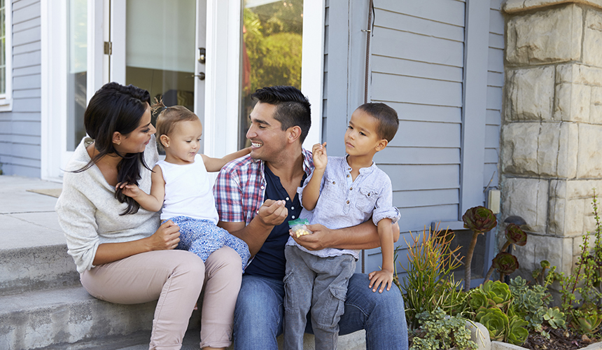 Family in Home Insurance Dundee, NY