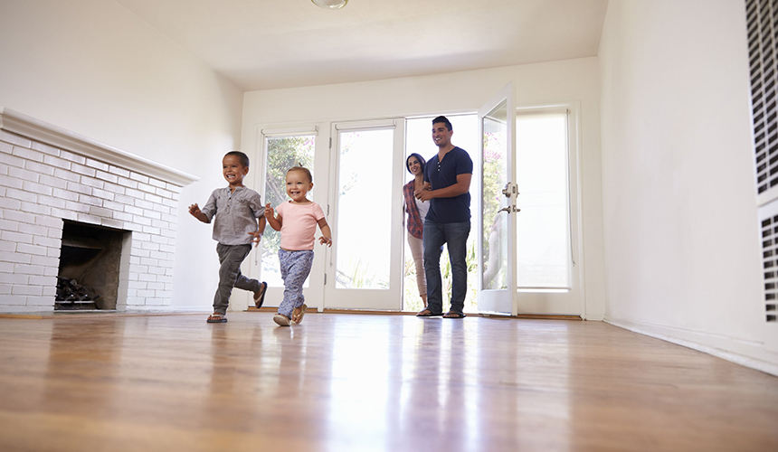 Homeowners Insuance Family in new home